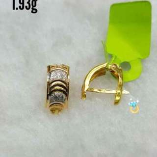 21k saudi gold earrings