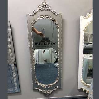 SALES | French Panel Mirror | Antique Silver