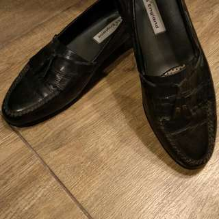 Loafers genuine leather with tassel