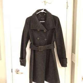 Talula Babaton - dark grey wool coat (size small)