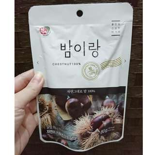 韓國 100% 無添加 栗子 天然食品 健康零食 80g