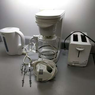Kettle coffee maker toaster mixer