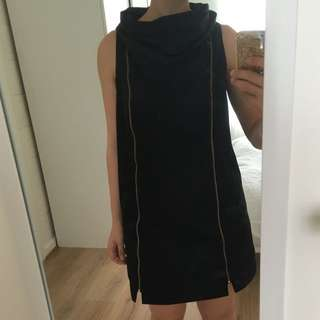 Camilla and Marc sold out black racer back funnel neck dress
