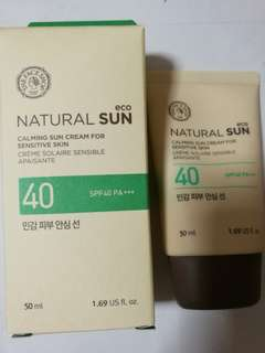 BN The Face Shop Natural Sun Calming Sun Cream