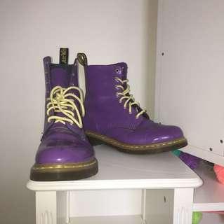 Doc Marten Boots (Purple & Yellow)