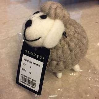 GLORY21 品牌羊 玩偶 吊飾 擺設 #交換禮物 #舊愛換新歡