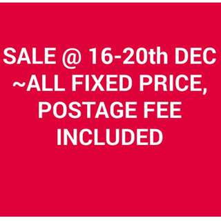 SALE-All fixed price included postage fee