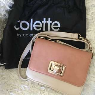 Pink and cream Colette Hayman bag
