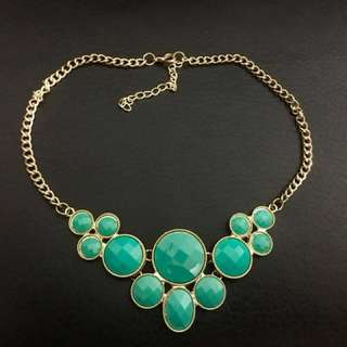 Turquoise Green Statement Necklace