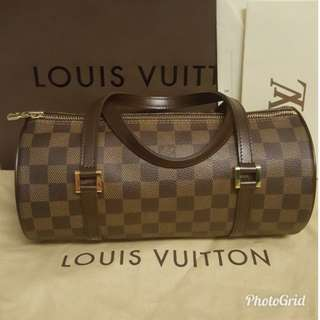 98%new極🌞LOUIS VUITTON *PAPILLON 26 DAMIER