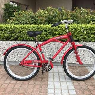 Vintage looking bicycle with foot brake