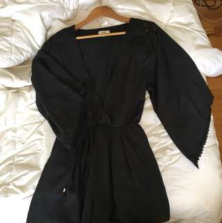 AVA. Black Jumpsuit