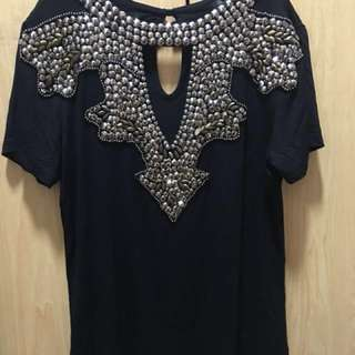 Yasmin Fashion Black Top