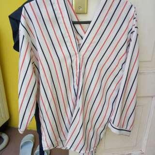 Stripe tee baju garis garis