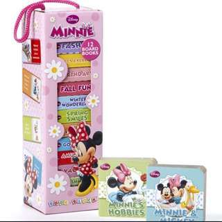 Brand New Disney Minnie Mouse 12 Board Book Tower