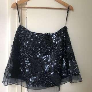 Aje Sorian Skirt - Rare Midnight Navy colour
