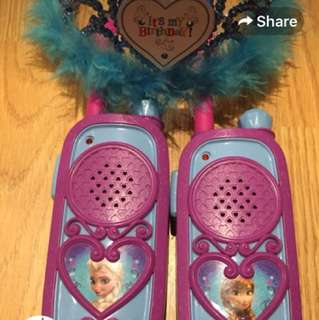 Disney Frozen Walkie Talkie and Light up Tiara