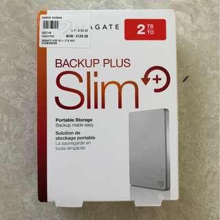 2TB Seagate Backup Plus Slim Portable Hard disk drive
