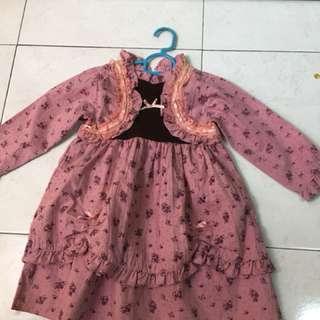 Korean long sleeve princess dress