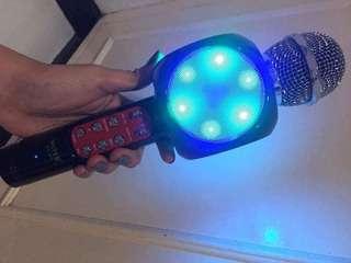 BLUETOOTH MIC SPEAKER W/LED LIGHTS