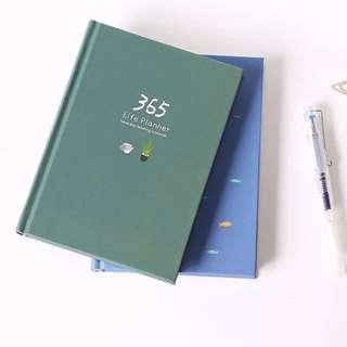 (Last Piece) Dark Green 365 Life Daily Planner Journal
