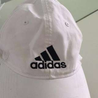 Adidas Hat One size fits all white good condition