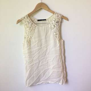 Zara Lace Embroidery Top