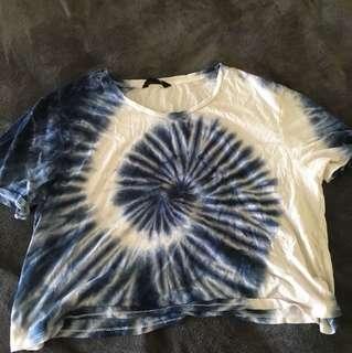 Jay jays XL crop tye dye shirt