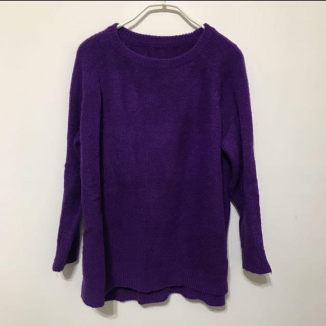 100%正韓紫毛衣