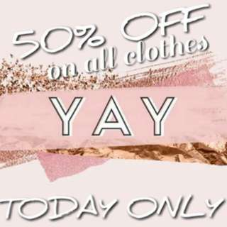 50% OFF TODAY ONLY