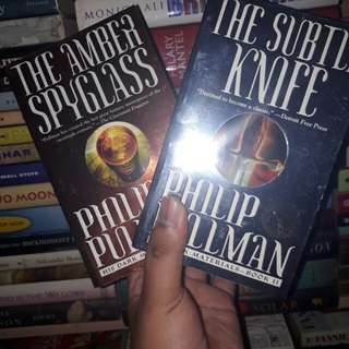 His Dark Materials Set (The Subtle Knife & The Amber Spyglass) by Philip Pullman