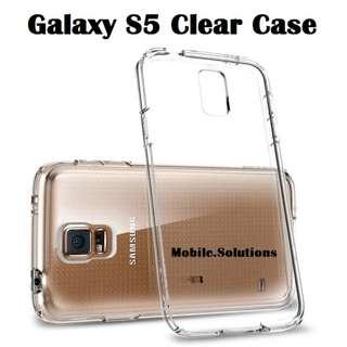 Samsung S5 Clear / Transparent TPU Case (Anti Water Marks)