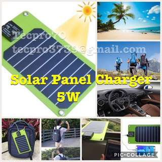 NEW Arrival : Solar Panels 5W Outdoor USB Charger for charging smart phone or Power Bank (USA SUNPOWER). Interest buyer ask for offer price. Now Available Limited sets. Retail price: $ 80.00
