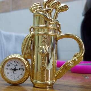 Original Papini golf table clock watch