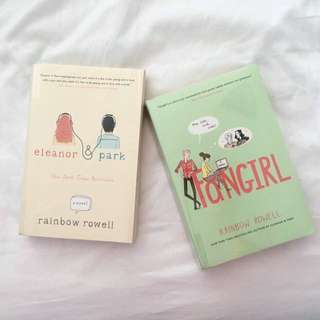 Rainbow Rowell's enleanor & park and Fangirl set