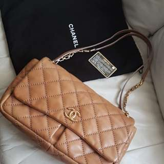 Chanel calfskin flap* authentic