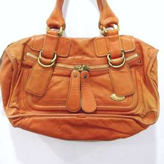 Original Chloe Large Paddington Bag In Orange