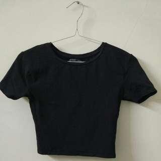 ZARA Cropped T-shirt Size S