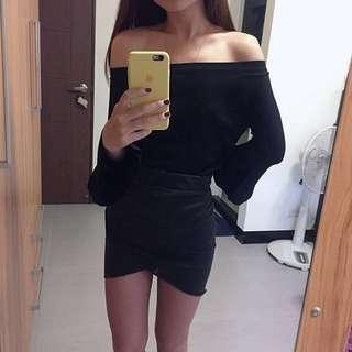 🚚 H&M 前交叉棉短裙