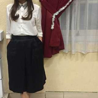 Black skirt midi minimal (rok hitam)