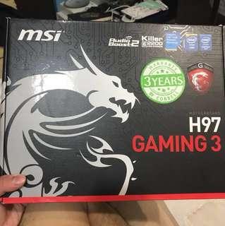 H97 gaming 3 motherboard + i5 4690k + 8GB ram