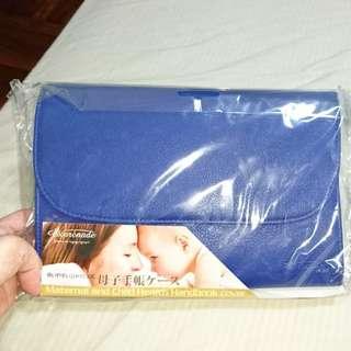 日本 Exprenade 母子手帳收納包 藍