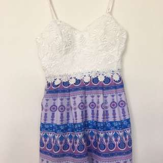 Lace Playsuit Dress size 6 womens