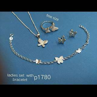 Authentic 92.5 Italy silver set for ladies