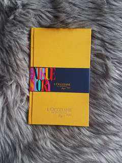 L'occitane limited edition yellow journal