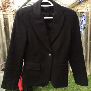Edit by JEANNE BEKER Black Blazer Size 4