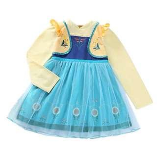 ❤️現貨❤️柔棉長袖公主洋裝❄️冰雪奇緣❄️安娜🌻艾莎❄️
