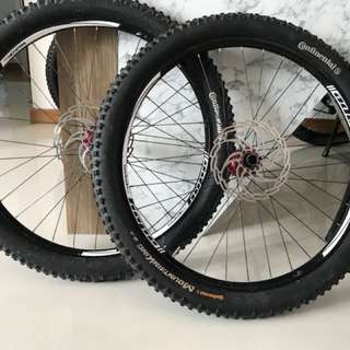 """26"""" Ztr Flow + Funn Fantom wheelset with Continental Trail King"""