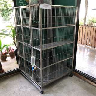 3 tier stainless cat cage