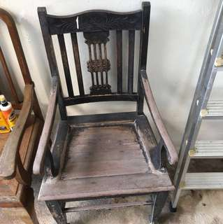 Antique chair . teak  genuine Colonial era
